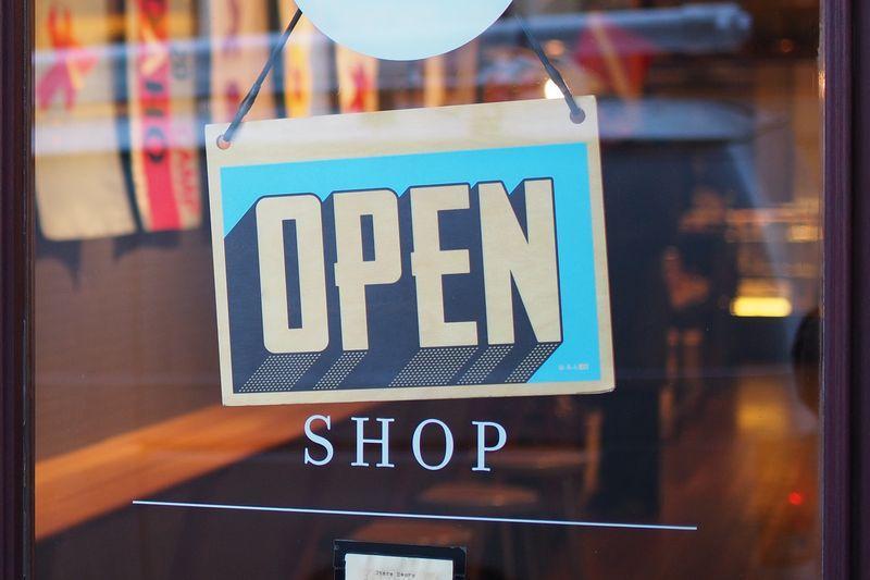 open shop sign