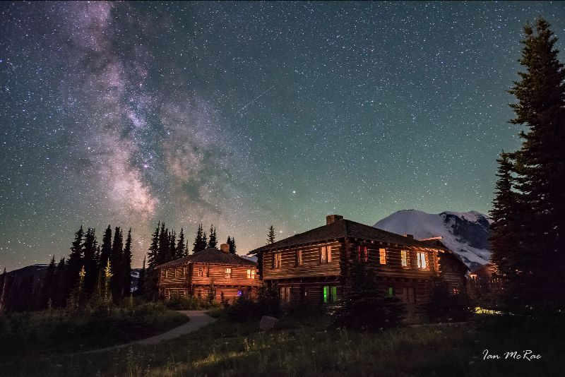 Stars on Mountain Rainier